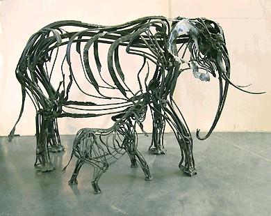 olifant en mens